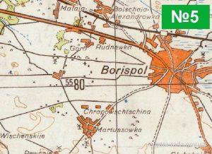 Село Гора Бориспільського району на мапах різних періодів