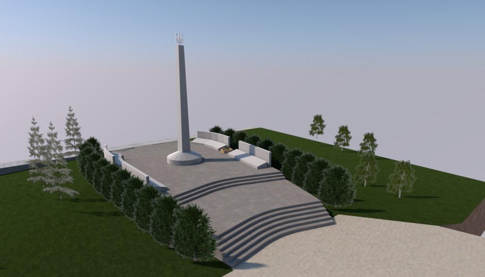 Ескіз реконструкції меморіалу пам'яті