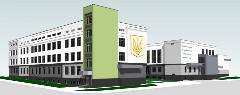 На будівництві нової Гірської середньої загальноосвітньої школи I-III ступенів на 24 класи (600 учнів) тривають роботи по утепленню фасаду